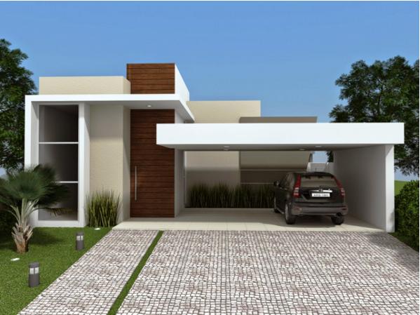 Fachadas de casas t rreas fotos modelos for Modelos de casas fachadas