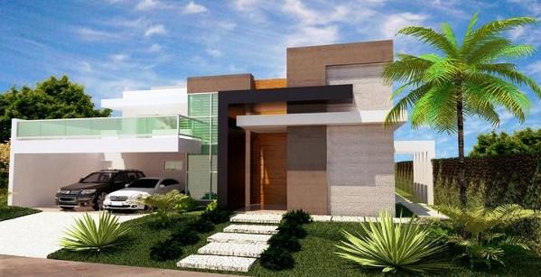 Fachadas de casas t rreas fotos modelos - Casas pequenas con porche y jardin ...
