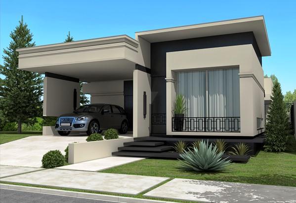 Fachadas de casas t rreas fotos modelos for Disenos de casas 10x20