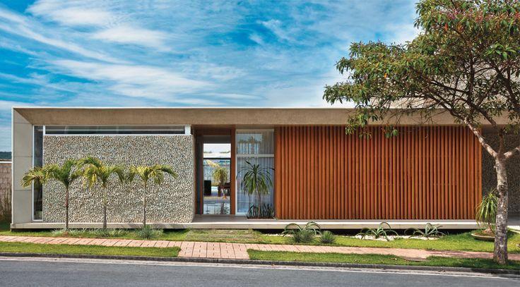 Fachadas de casas t rreas fotos modelos for Fachadas contemporaneas para casas