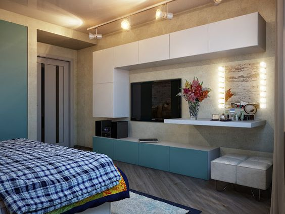 decoracao-de-quarto-masculino-com-tv