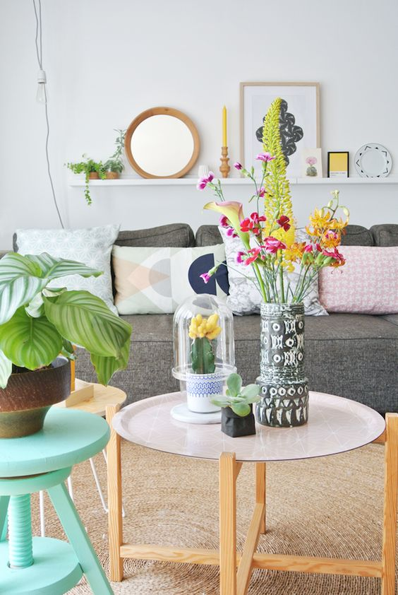 decoracao-de-salas-de-estar-com-flores