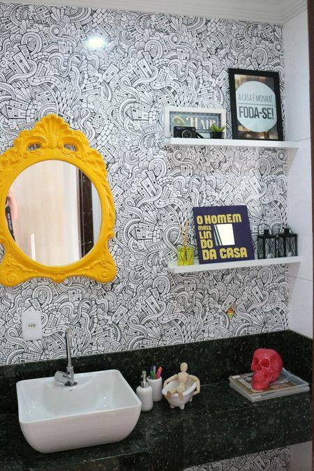como decorar banheiros com espelhos