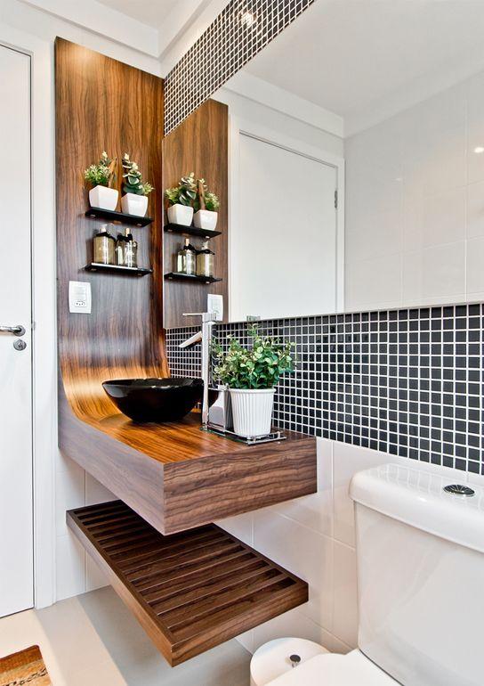 Espelhos para banheiros 55 fotos lindas for Fotos de apartamentos bonitos