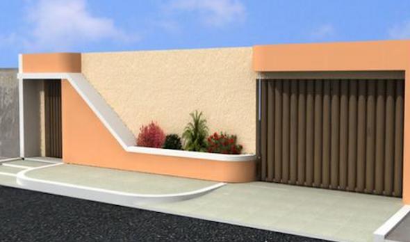 Fachadas de muros simples e bonitos for Modelos de casas fachadas fotos