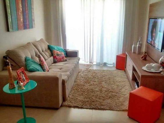 Decora o de salas de estar modelos inspiradores - Salas de estar pequenas ...