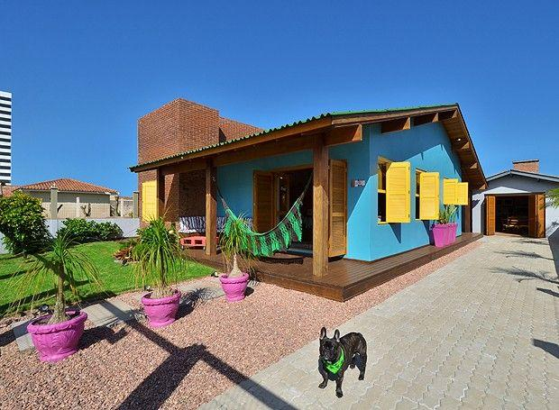 dicas para pintar casas coloridas