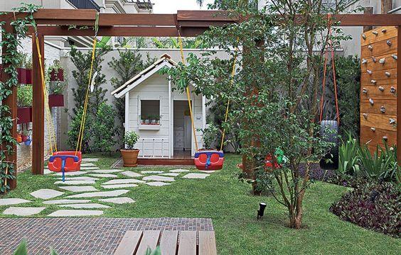 pergolado no jardim externo