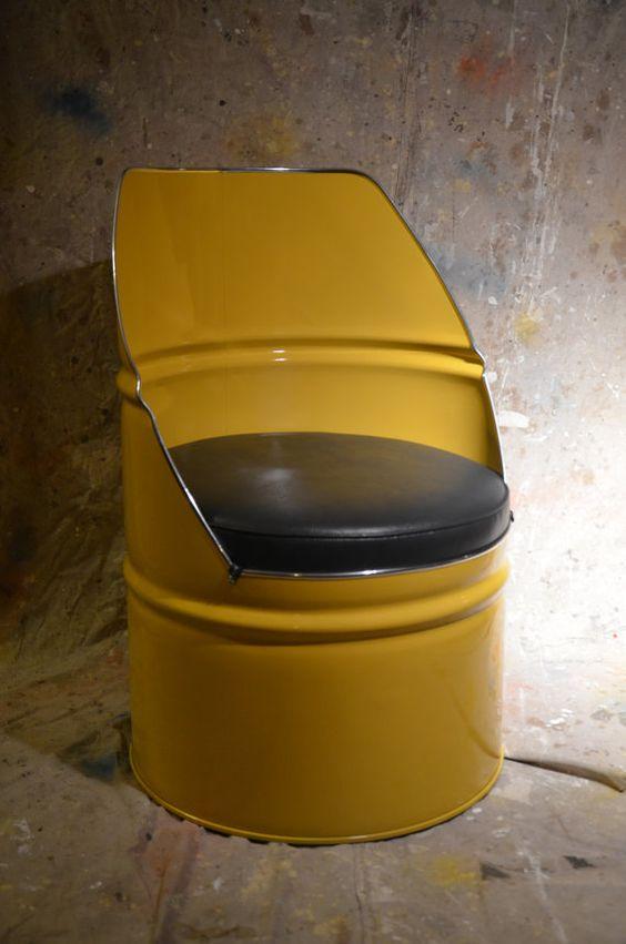 Cadeira reciclada na Decoração Industrial
