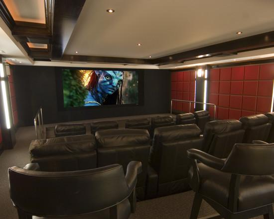 decoração de home theaters em ambientes