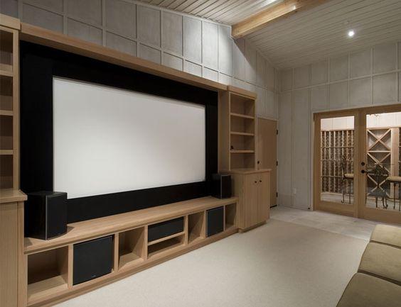 decoração de home theater em ambiente pequeno