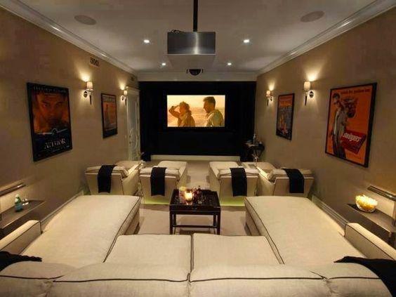 decoração de home theater moderna