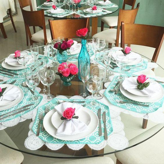 Decora o de mesas de jantar 50 modelos lindos e criativos for Modelos mesas para cafeteria
