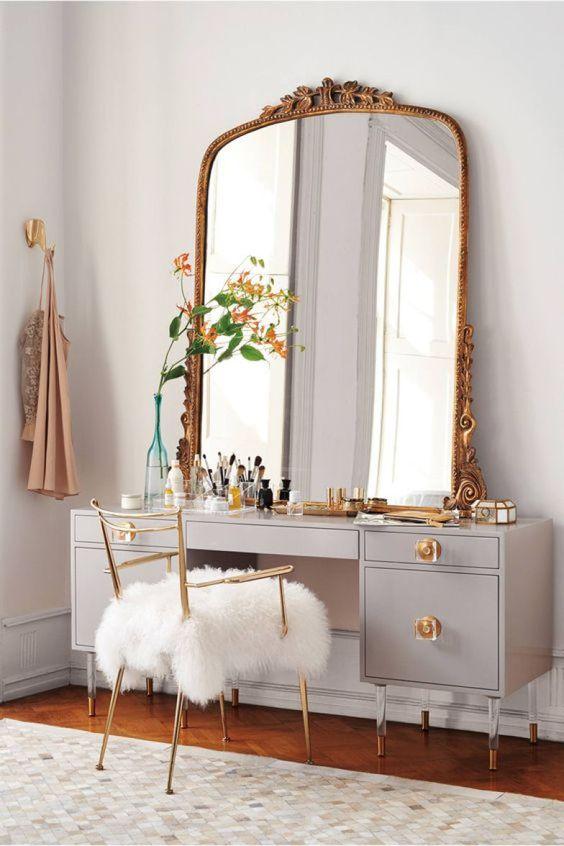 Fotos de Penteadeiras no quarto com espelhos grandes