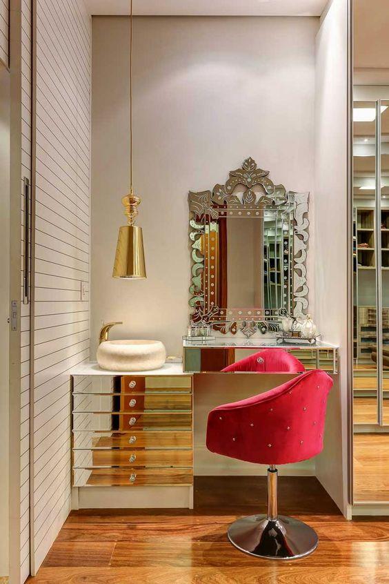 Decoração de Penteadeiras com espelhos