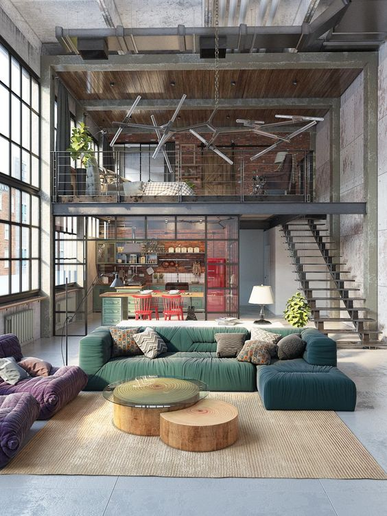 100 fotos de lofts decorados para inspirar voc