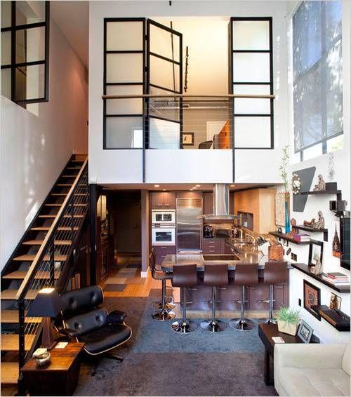 100 fotos de lofts decorados para inspirar voc for Loft rustico