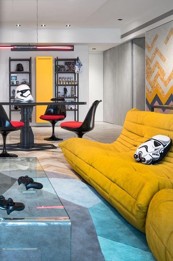 Decoração coloridas para lofts