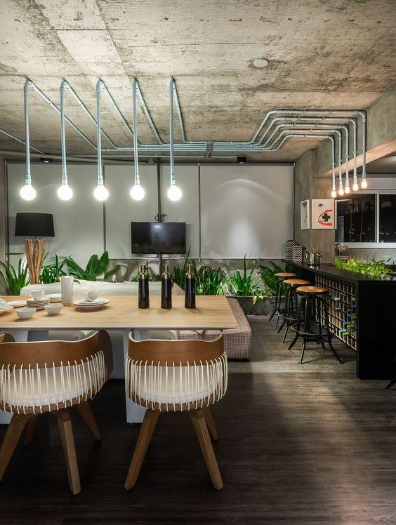 100 fotos de lofts decorados para inspirar voc for Cortina de estilo industrial