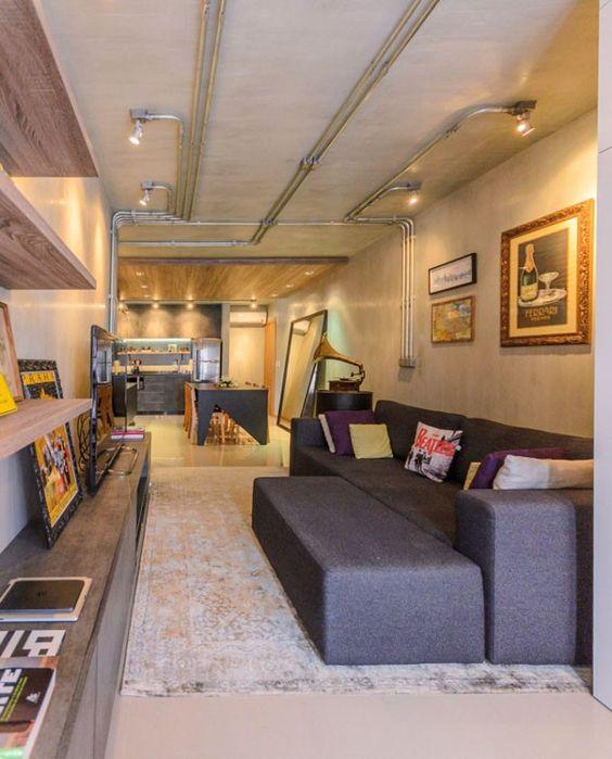 salas decoradas para lofts