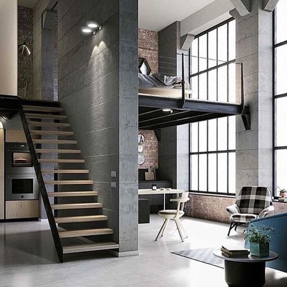 100 fotos de lofts decorados para inspirar voc - Penthouse ac du square one studio ...