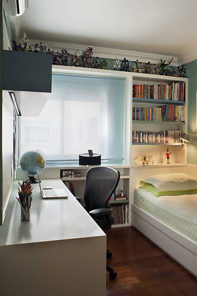 Decoração de quartos para meninos com escrivaninha