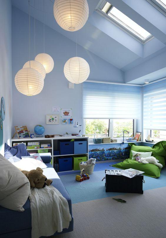 quartos de meninos iluminados