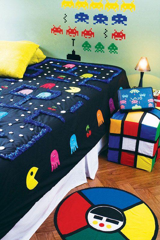 quartos de meninos pac-man