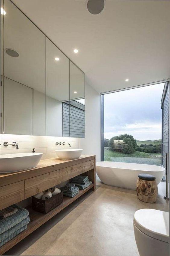 Banheiros com Banheiras modernas