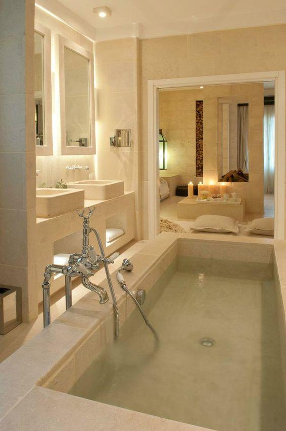 como decorar um banheiro com banheira