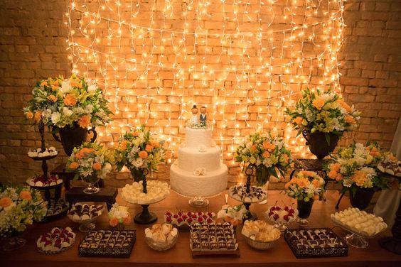 60 Fotos de Mesas de Bolo de Casamento