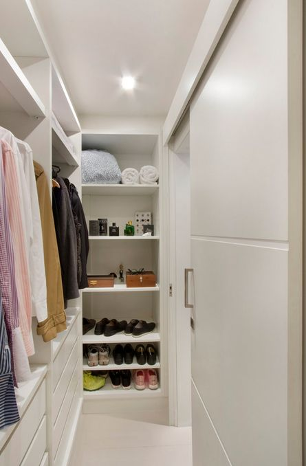 40 closets pequenos que v o inspirar voc for Walking closet modelo