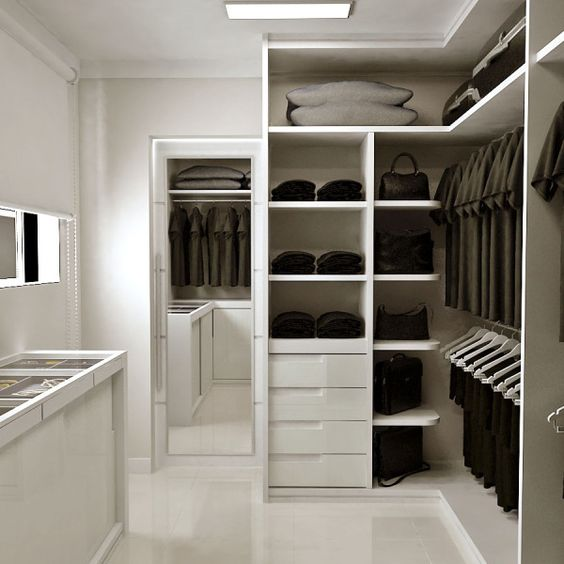 40 closets pequenos que v o inspirar voc for Modelos de walk in closet