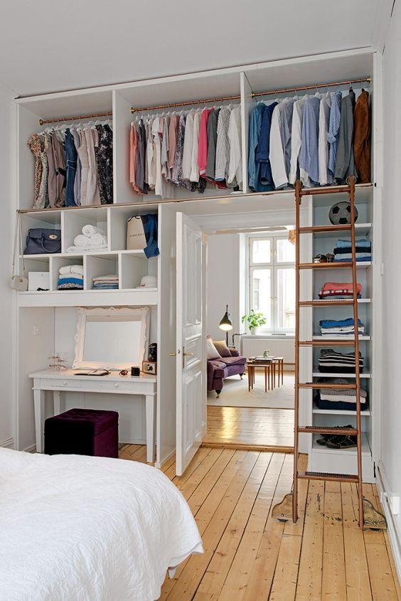 como decorar um closet pequeno