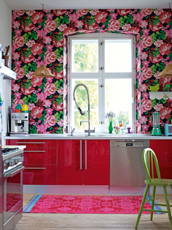 fotos de cozinha vermelha