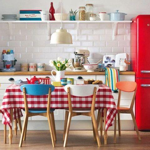 cozinha vermelha simples