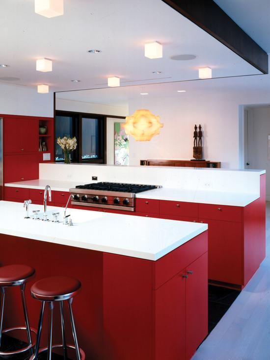 Cozinhas vermelhas 50 modelos maravilhosos e inspiradores - Plafones de cocina ...