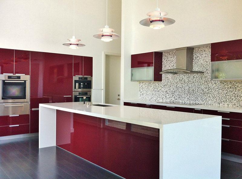 cozinhas vermelhas perfeitas