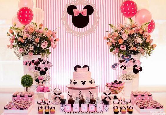 Festa de aniversário simples tema minnie