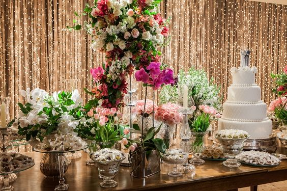 Mesas de Bolo de Casamentos 2018