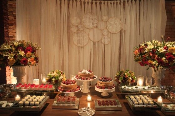 Mesas de Bolo de Casamento simples de fazer