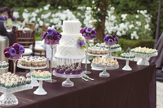 Mesas de Bolo de Casamento simples