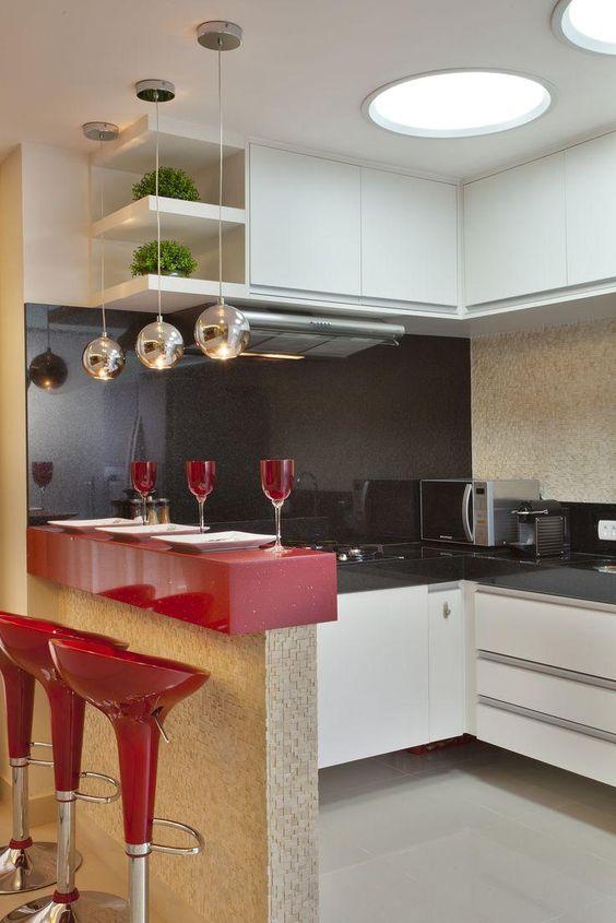 decoração de cozinhas vermelha
