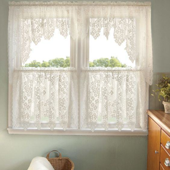Modelos de cortinas de crochê