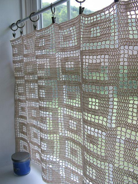 cortinas de crochê