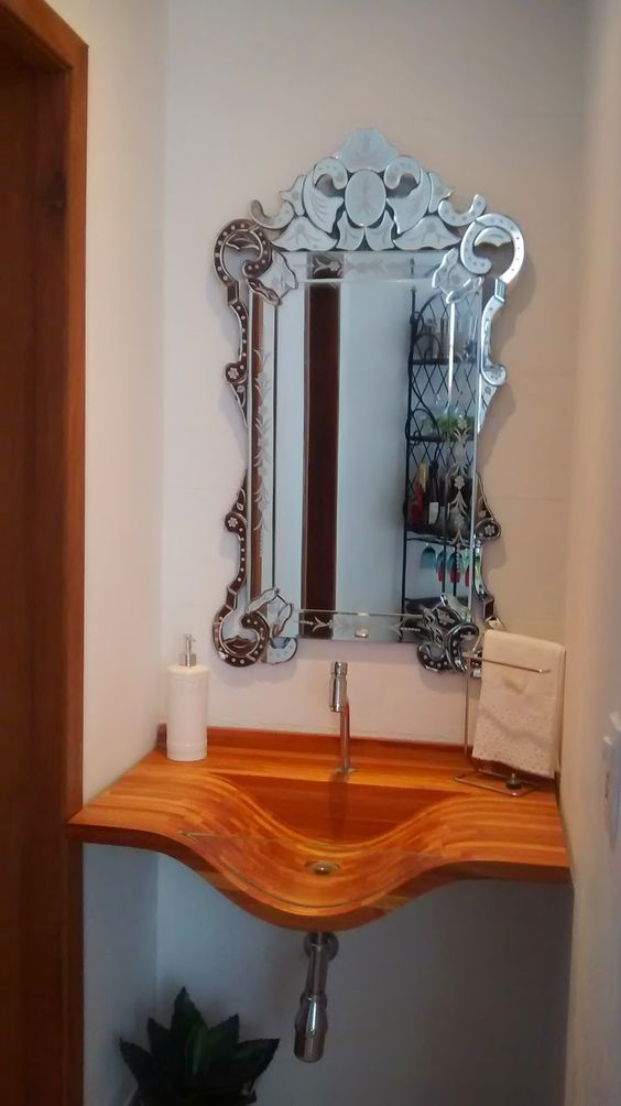 Espelho veneziano lavabo