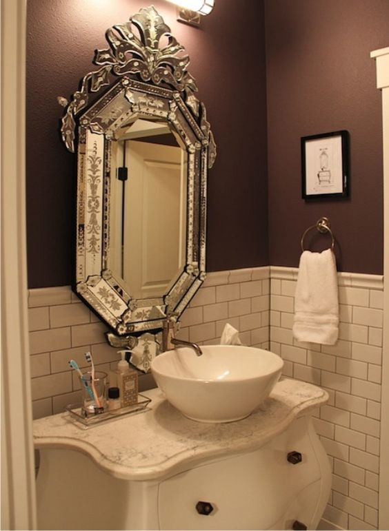 Espelhos venezianos para banheiros