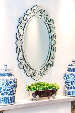 Espelhos venezianos redondos