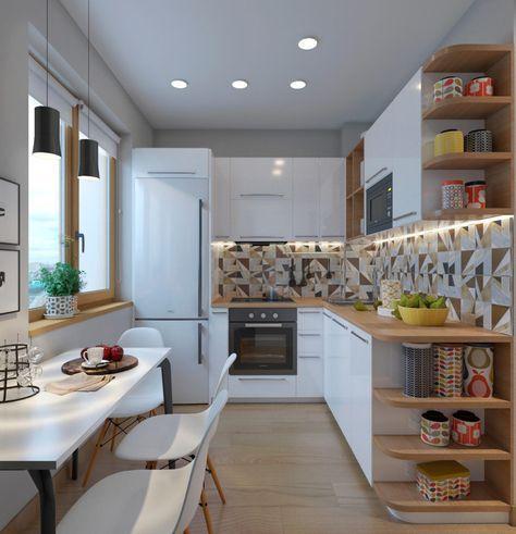 Cozinha em L modernas