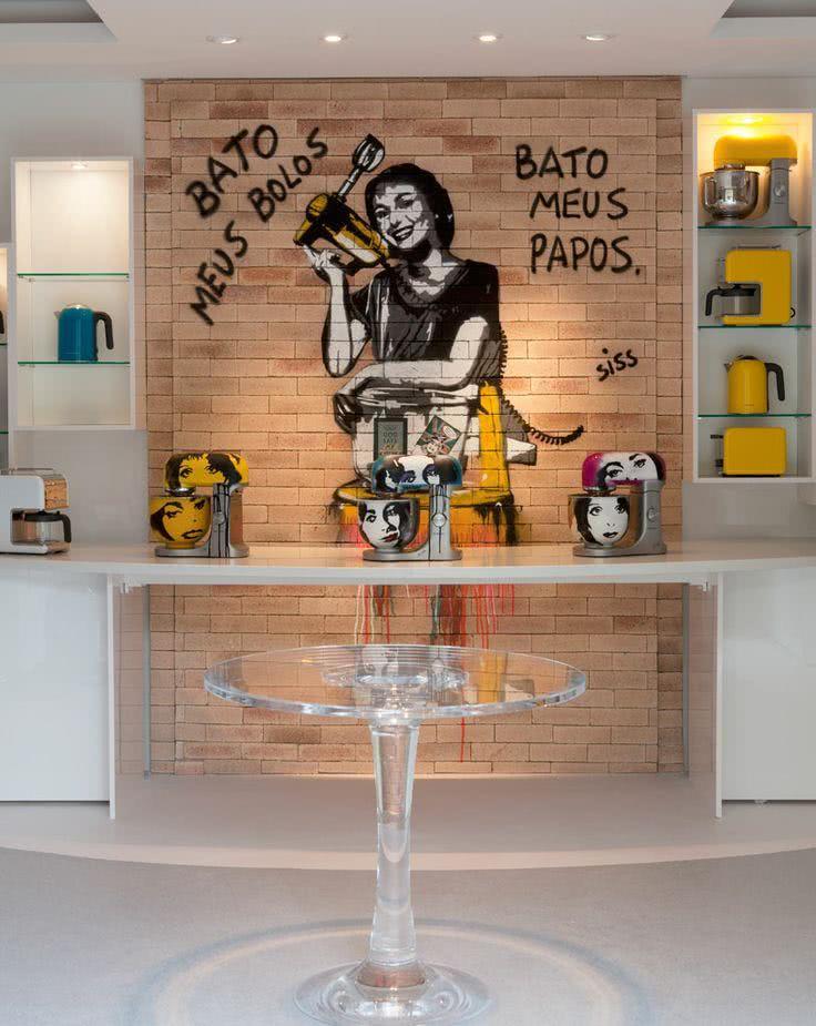 ambientes decorados com grafite na parede modelos